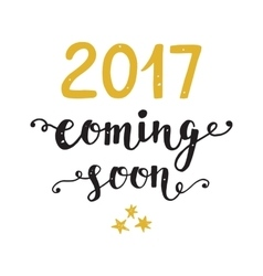 New Year card 2017 year coming soon vector image