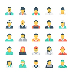 Professions colored icons 4 vector