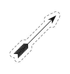 Arrow love symbol thin line vector
