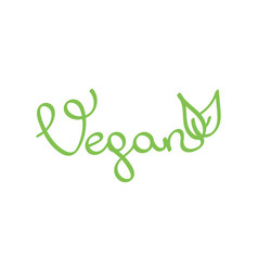 Hand drawn lettering word vegan vector