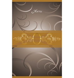 Victorian menu cover design vector