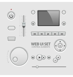 Web ui elements design light gray vector