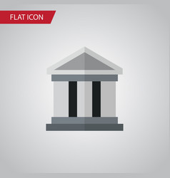 isolated building flat icon bank element vector image