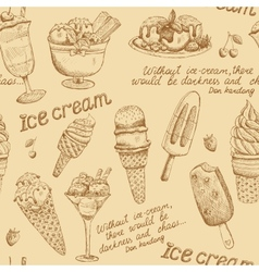 Ice cream vintage pattern vector