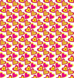 Heart pattern background vector
