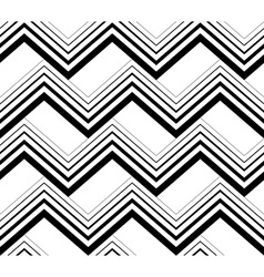 Zig zag black and white geometric seamless pattern vector