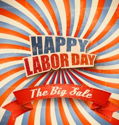 Labor day sale retro background vector