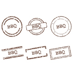 Bbq stamps vector