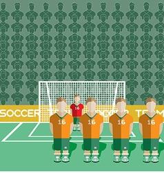 Ivory coast soccer club penalty on stadium vector
