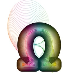 Abstract colorful omega sign vector