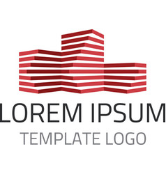 Building logo template vector image