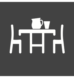 Dinner table vector