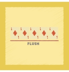 Flat shading style icon flush vector
