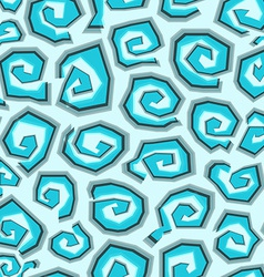 abstract blue spirals seamless vector image