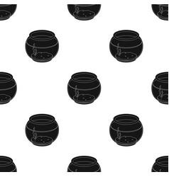 Aquarium with waterpet shop single icon in black vector
