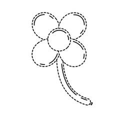 Balloons shape flower stem decoration carnaval vector