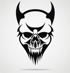 Devil Skulls Tribal vector image