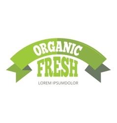 Green organic natural eco label vector image vector image