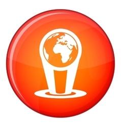 Hologram globe icon flat style vector
