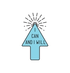 I can and will inspirational motivational vector