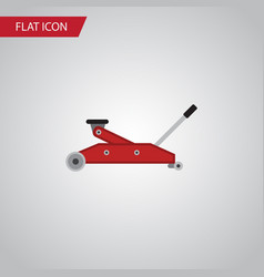 Isolated jack flat icon lifting element vector