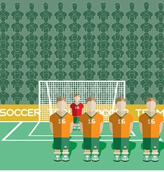 Ivory coast soccer club penalty on stadium vector