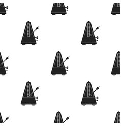 Metronome icon in black style isolated on white vector