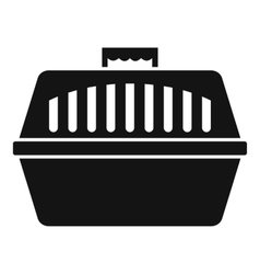 Pet carry case icon simple style vector image vector image