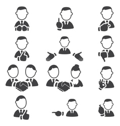 Set of gesture icons vector image