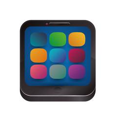 Smartphone app symbols vector