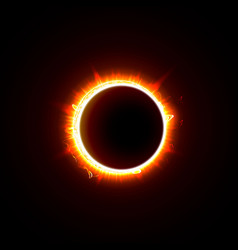 Solar eclipse on a black background vector