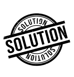 Solution rubber stamp vector