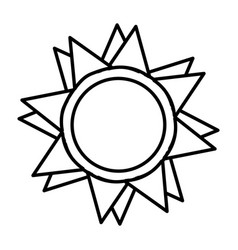 Sun light isolated icon vector
