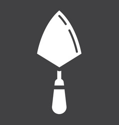 Trowel glyph icon build and repair bricklayer vector