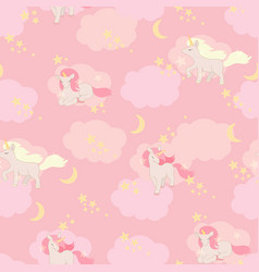 Unicorns seamless pattern elements for vector