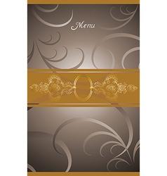 Victorian menu cover design vector