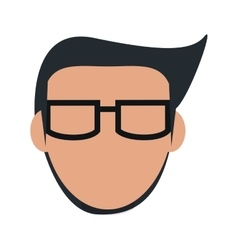 Faceless man with glasses icon vector