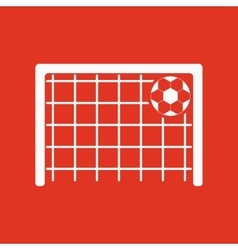 The football goal icon soccer symbol flat vector