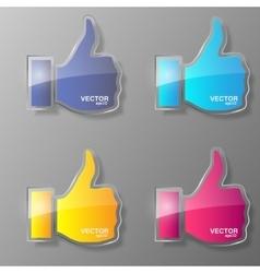 Set of glass like symbol vector image