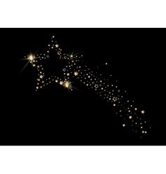 Falling christmas star fancy design golden stars vector