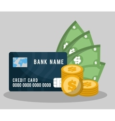 Banking related icons image vector
