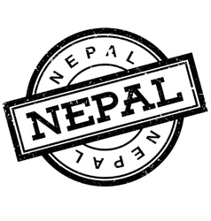 Nepal rubber stamp vector
