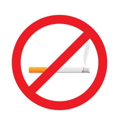 No smoking stop sign symbol vector image