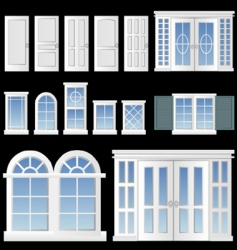 window and door vector image