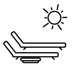 Sunbed icon vector