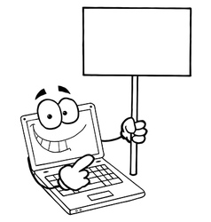 Cartoon laptop vector image