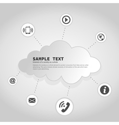 Business a cloud2 vector image