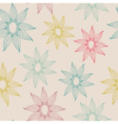 Seamless texture with abstract flower vector