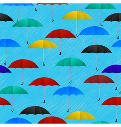Seamless umbrellas vector