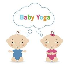 Baby yoga vector image